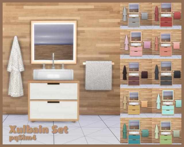 Sims 4 Xulbain Bathroom Set at pqSims4