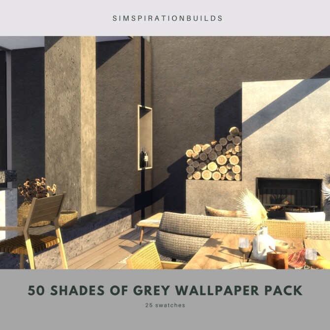 50 Shades Of Gray Wallpaper Pack at Simspiration Builds image 13119 670x670 Sims 4 Updates