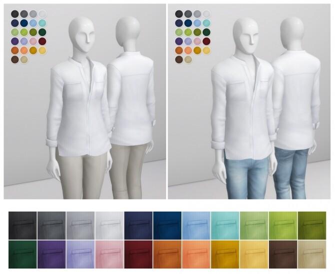 Linen Shirt V1 Solid at Rusty Nail image 13120 670x549 Sims 4 Updates
