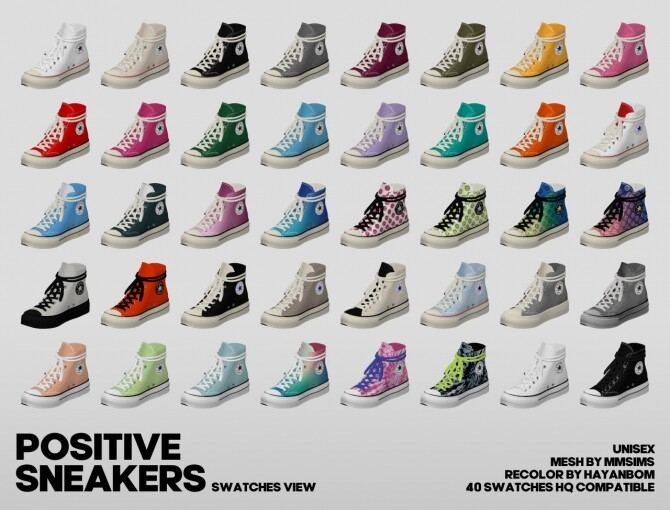 POSITIVE SNEAKERS at Hayanbom image 13215 670x510 Sims 4 Updates