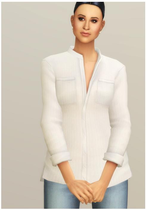 Linen Shirt V1 Solid at Rusty Nail image 13217 Sims 4 Updates