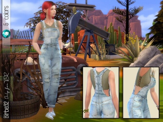 Sims 4 Post Apocalyptic Salopette by Birba32 at TSR