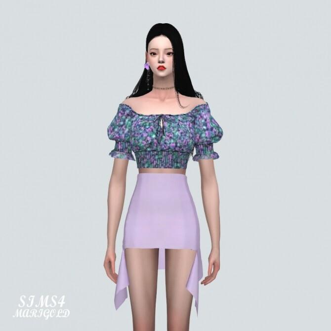 Summer Flower Blouse Off Shoulder V at Marigold image 1329 670x670 Sims 4 Updates
