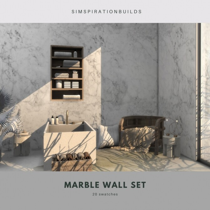 Marble Wall Set at Simspiration Builds image 13315 670x670 Sims 4 Updates