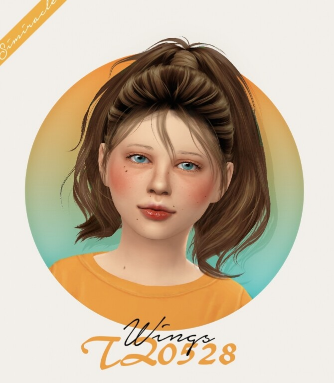 Wings TZ0528 Hair Kids Version at Simiracle image 13317 670x767 Sims 4 Updates