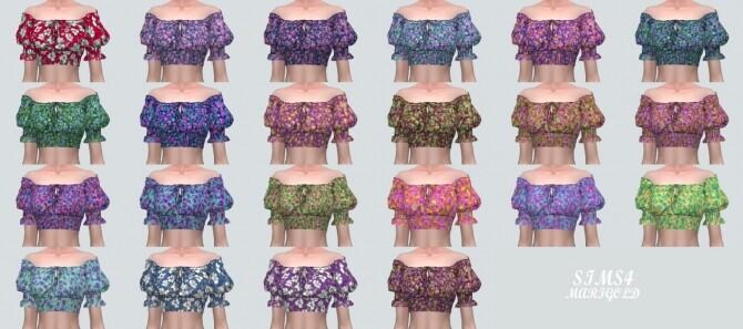 Summer Flower Blouse Off Shoulder V at Marigold image 1338 670x297 Sims 4 Updates