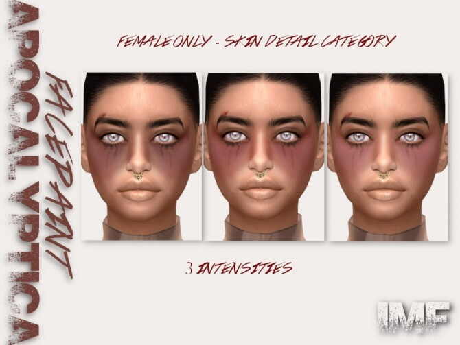 IMF Apocalyptica Facepaint N.03 by IzzieMcFire at TSR image 1344 670x503 Sims 4 Updates