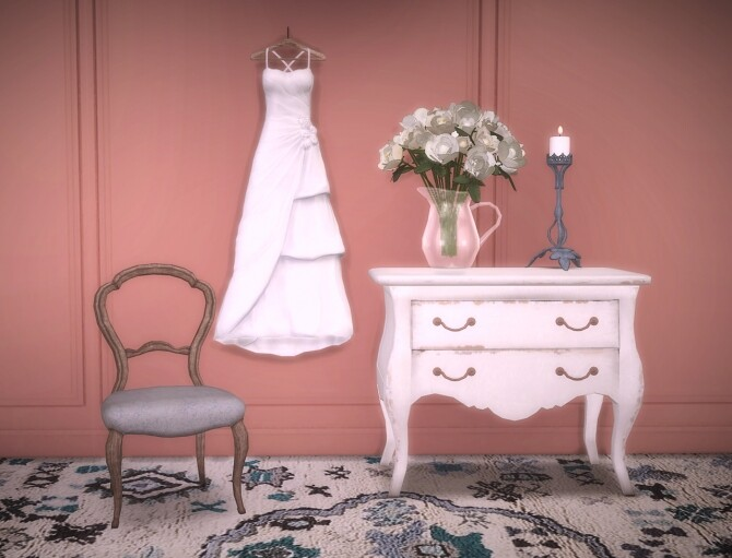 Sims 4 Romantic Bedroom set by Pocci at Garden Breeze Sims 4
