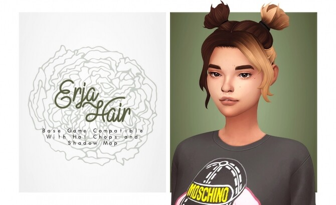 Erja egirl hair at Isjao image 13616 670x410 Sims 4 Updates
