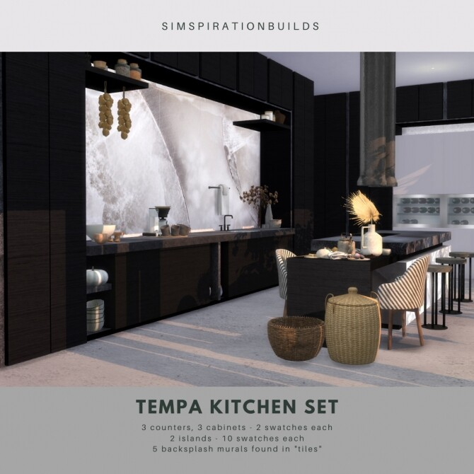 Sims 4 Tempa Kitchen Set at Simspiration Builds