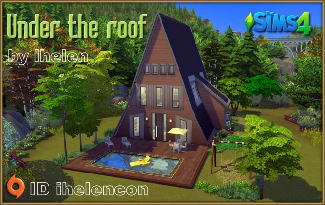 Under the roof house at ihelensims image 13716 670x423 Sims 4 Updates