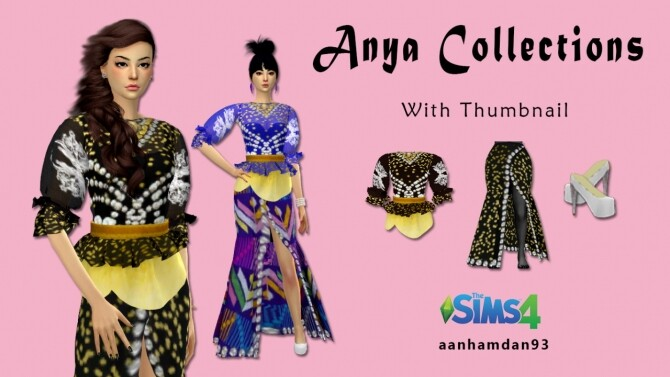 Sims 4 Anya Collections at Aan Hamdan Simmer93