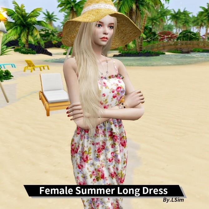 Sims 4 Summer long dress at L.Sim