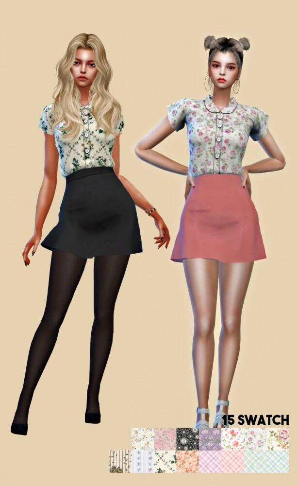 Girlfriend set F at L.Sim image 1401 614x1000 Sims 4 Updates