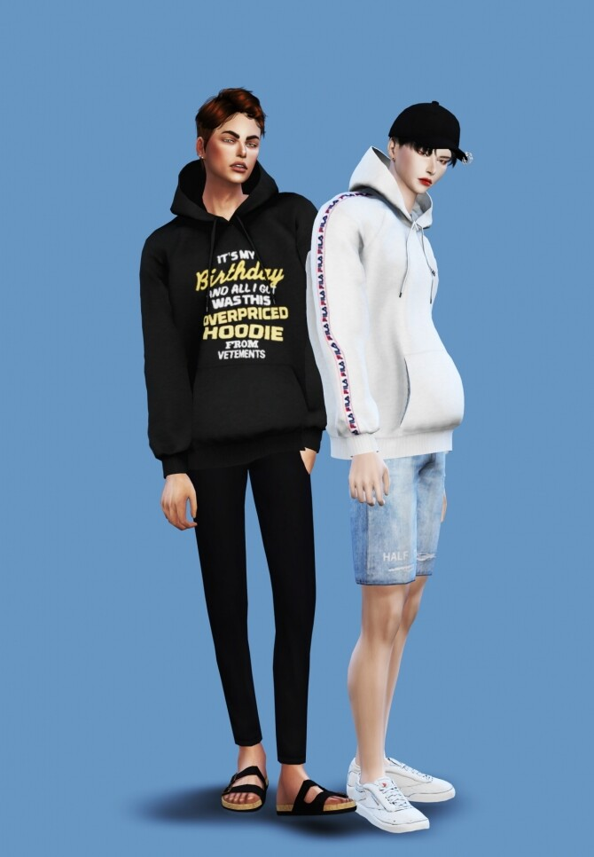 Sims 4 Male Hoodie at Chaessi