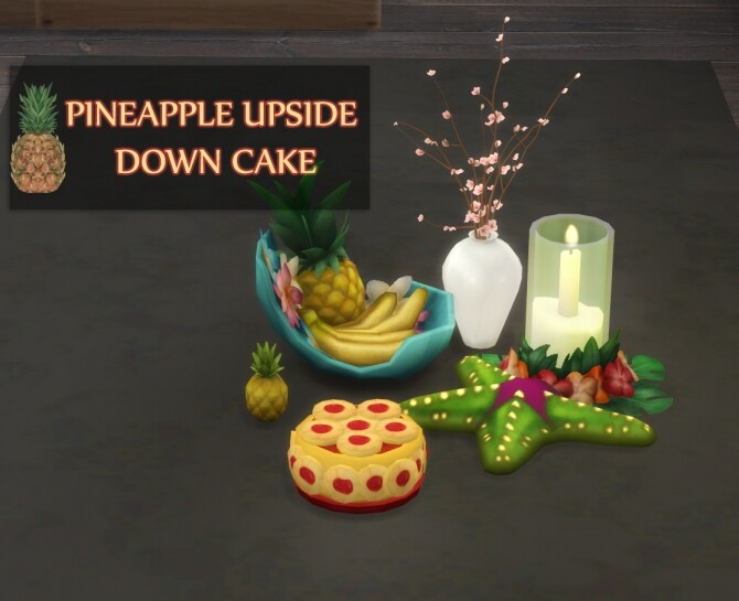 PINEAPPLE UPSIDE DOWN CAKE at Icemunmun image 14113 670x545 Sims 4 Updates