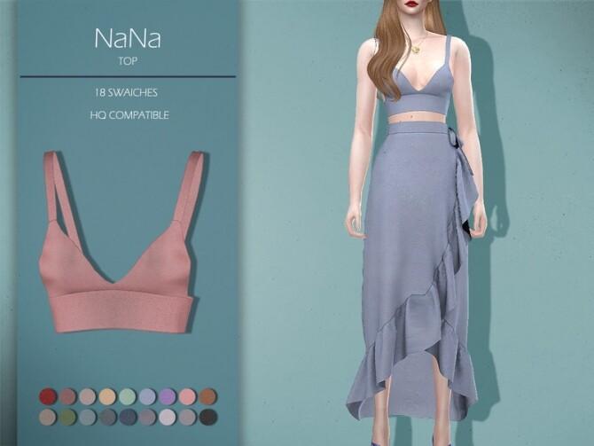 Sims 4 LMCS NaNa Top by Lisaminicatsims at TSR
