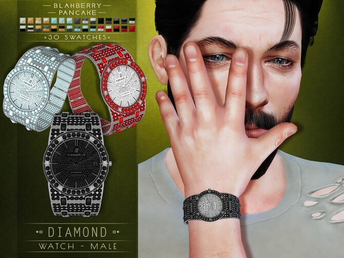 Sims 4 Diamond watches at Blahberry Pancake