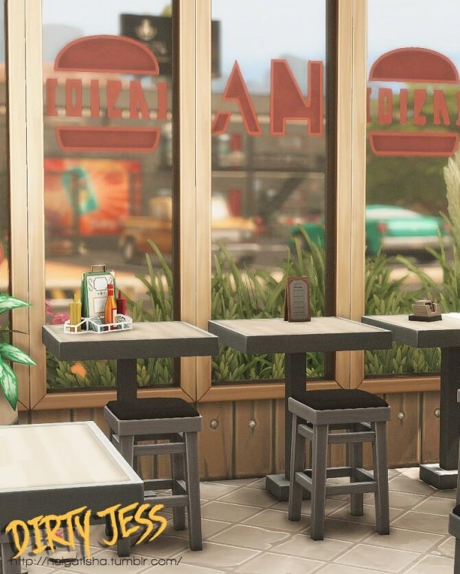 Sims 4 Dirty Jess restaurant at Helga Tisha