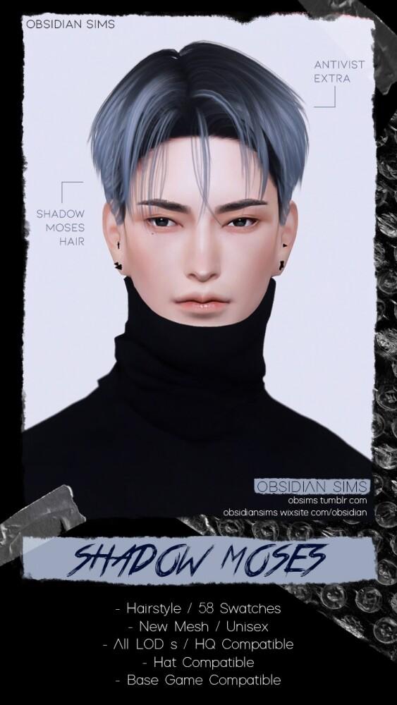 SHADOW MOSES HAIR at Obsidian Sims image 14410 563x1000 Sims 4 Updates
