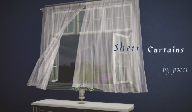 Sheer curtains by Pocci at Garden Breeze Sims 4 image 146 670x393 Sims 4 Updates