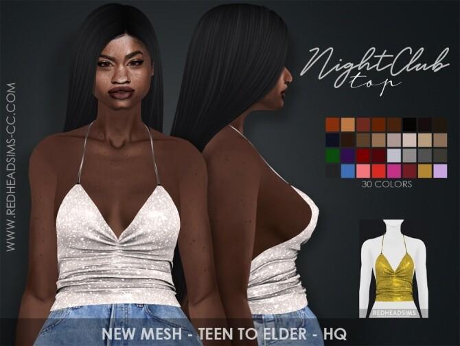 Sims 4 NIGHT CLUB TOP by Thiago Mitchell at REDHEADSIMS