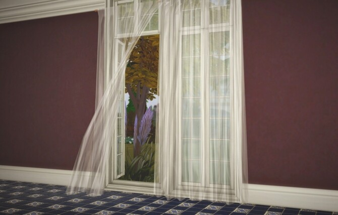 Sims 4 Sheer curtains by Pocci at Garden Breeze Sims 4