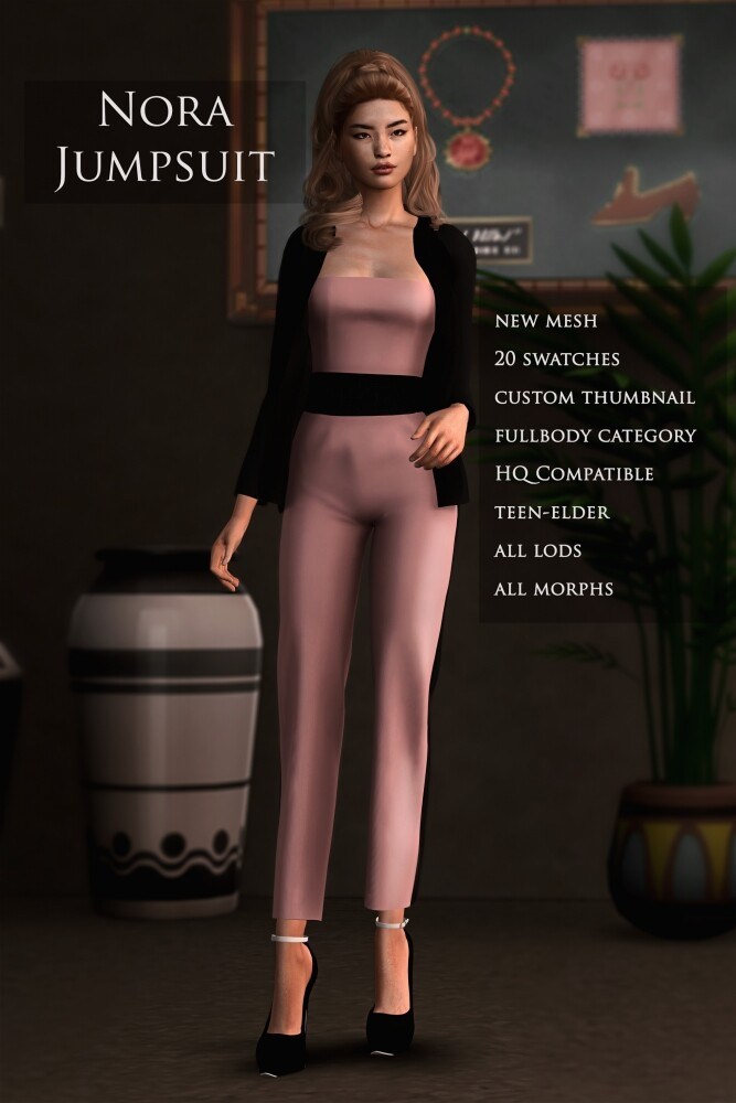 Nora Jumpsuit at Astya96 image 1481 667x1000 Sims 4 Updates