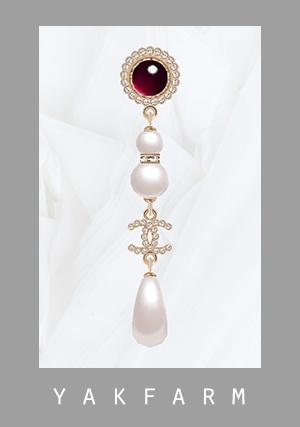 Glass Pearls & Diamond Earrings at Yakfarm image 1508 Sims 4 Updates