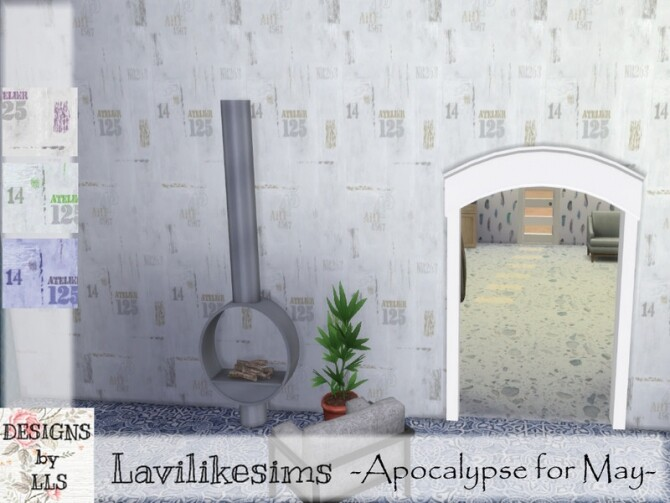 Sims 4 City Walls by lavilikesims at TSR