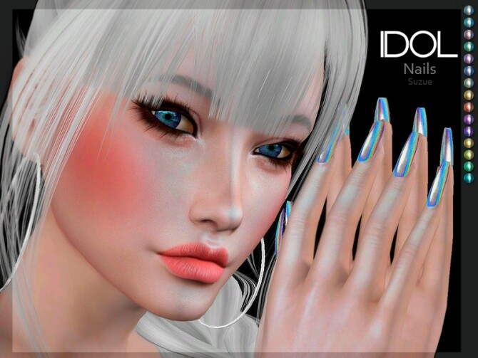 Sims 4 Idol Nails by Suzue at TSR