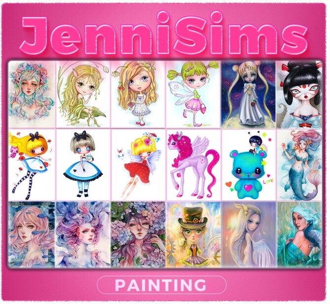 Sims 4 COLLECTION PAINTING Blossom in may at Jenni Sims