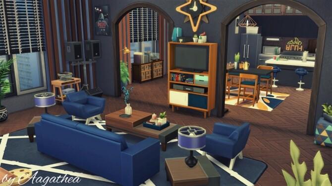 Sims 4 Men's Apartment in Hakim House Apartments at Agathea k