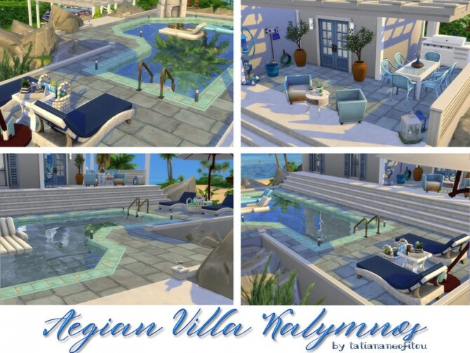 Sims 4 Aegian Villa Kalymnos by Tatiananeofitou at TSR