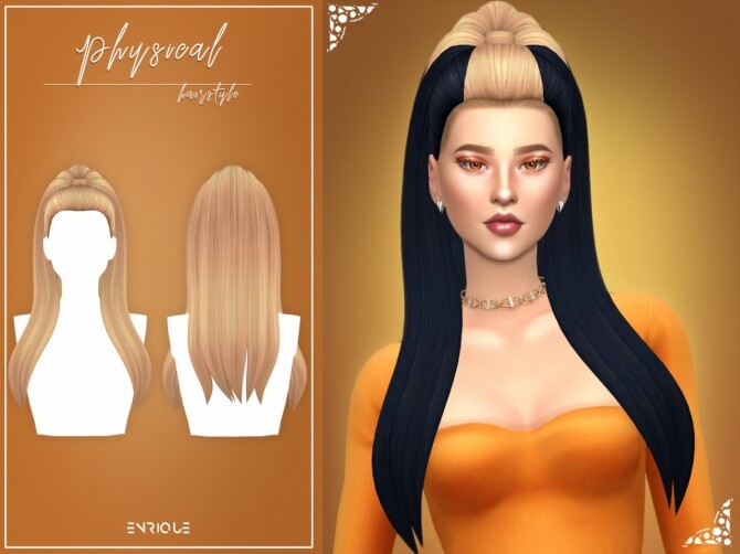 Physical Set: hair + necklace at Enriques4 image 1551 670x502 Sims 4 Updates