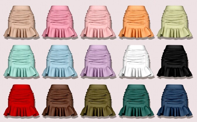 Spring Cardigan & Frill Banding Skirt at RIMINGs image 15510 670x415 Sims 4 Updates