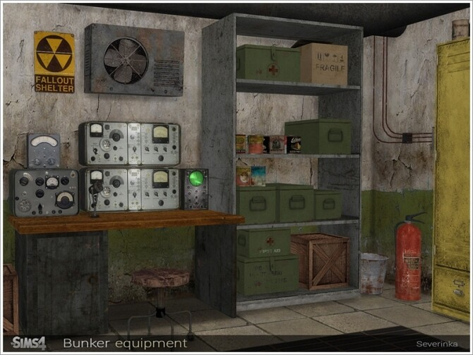 Sims 4 Bunker equipment by Severinka at TSR