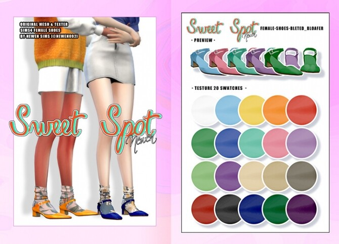 Sweet Spot Bloafer & Mules at NEWEN image 1557 670x483 Sims 4 Updates