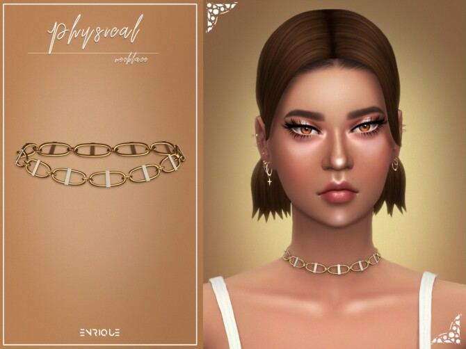 Sims 4 Physical Set: hair + necklace at Enriques4