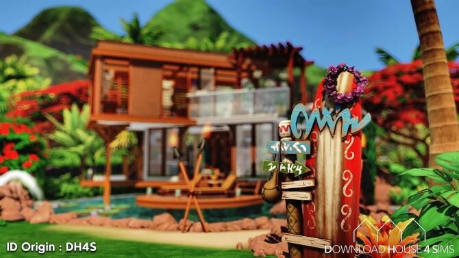 Sims 4 Single Beach House by Samuel at DH4S