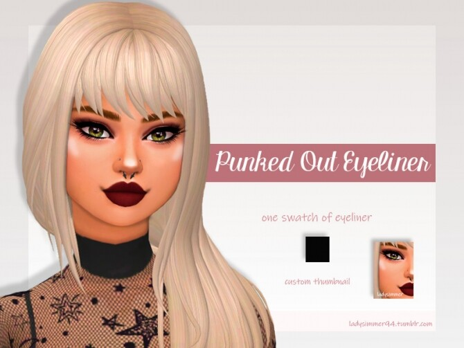 Sims 4 Punked Out Eyeliner by LadySimmer94 at TSR