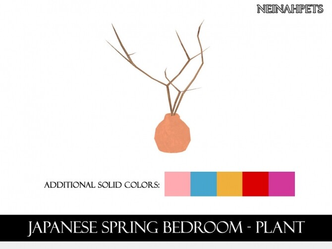 Japanese Spring Bedroom by neinahpets at TSR image 1580 670x503 Sims 4 Updates