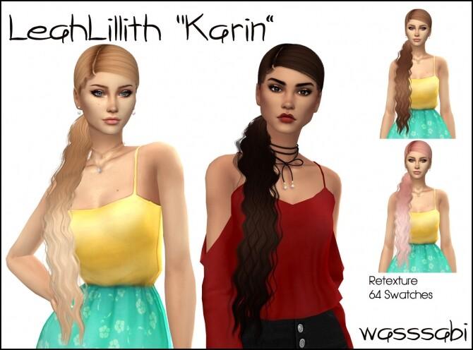 Sims 4 LeahLillith Karin Hair Retextured at Wasssabi Sims