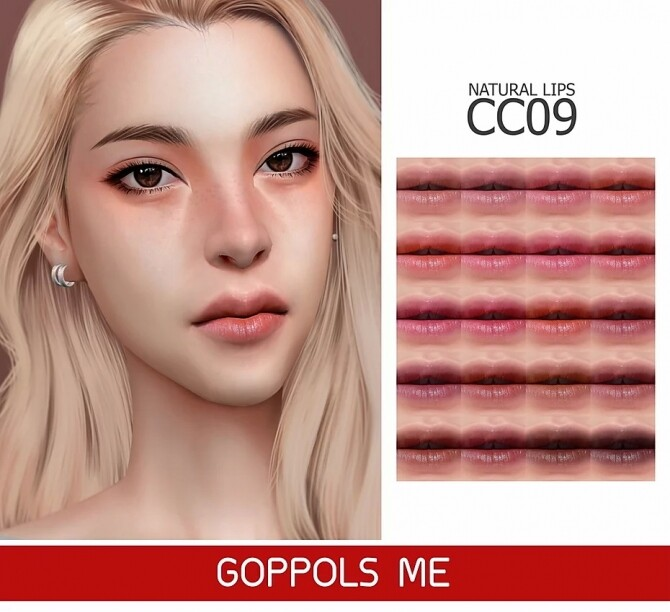 Sims 4 GPME GOLD Natural Lips CC9 at GOPPOLS Me