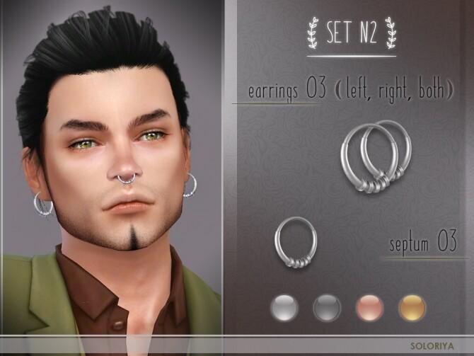 Sims 4 12 accessories set N2: earrings and septums at Soloriya