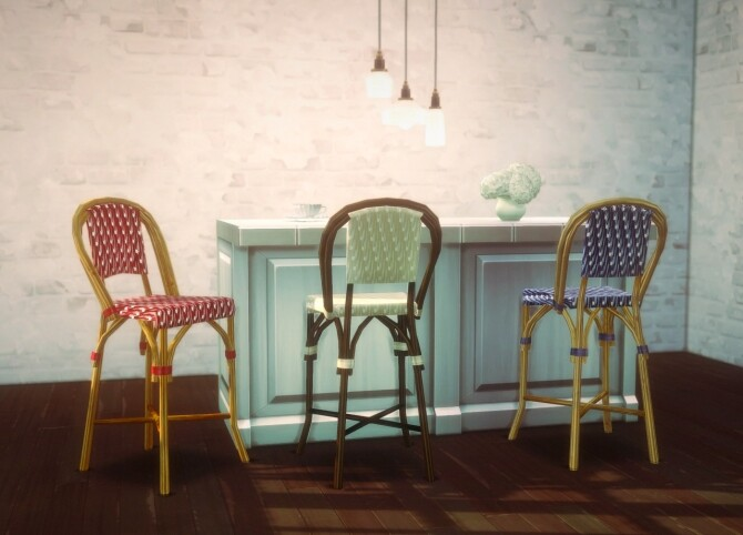 Sims 4 Barstool version of bistro chair by Pocci at Garden Breeze Sims 4