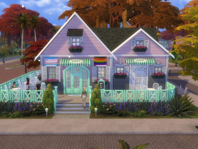 Sweet Treats Cafe 20x20 NO CC by Biotic Blue Simmer at TSR image 1600 670x503 Sims 4 Updates