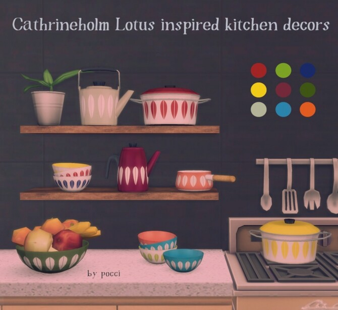 Sims 4 Cathrineholm's lotus series inspired kitchen decors at Garden Breeze Sims 4