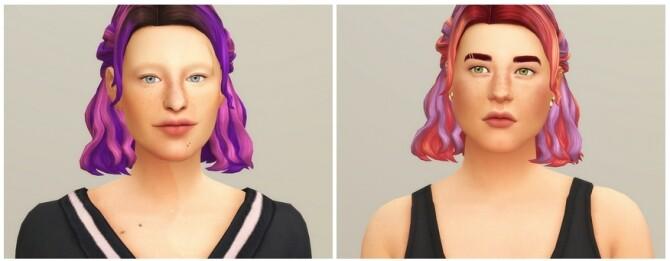 Half up Braid Hair Edit (Ombré) at Rusty Nail image 1635 670x261 Sims 4 Updates