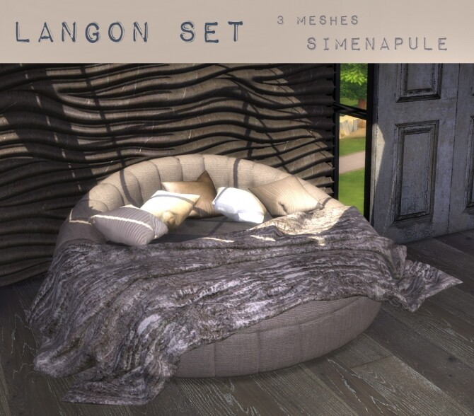 Langon Bed Set by Ronja at Simenapule image 16410 670x588 Sims 4 Updates